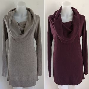 2✨CASLON Women's Side Slit Cowl Neck Tunic SMALL